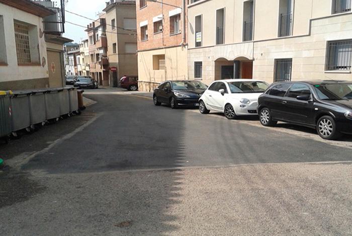 Intervenció de millora de l'asfalt dels carrers del nucli urbà