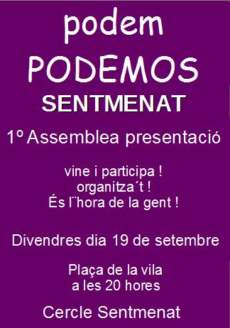 Cartell presentació Podemos