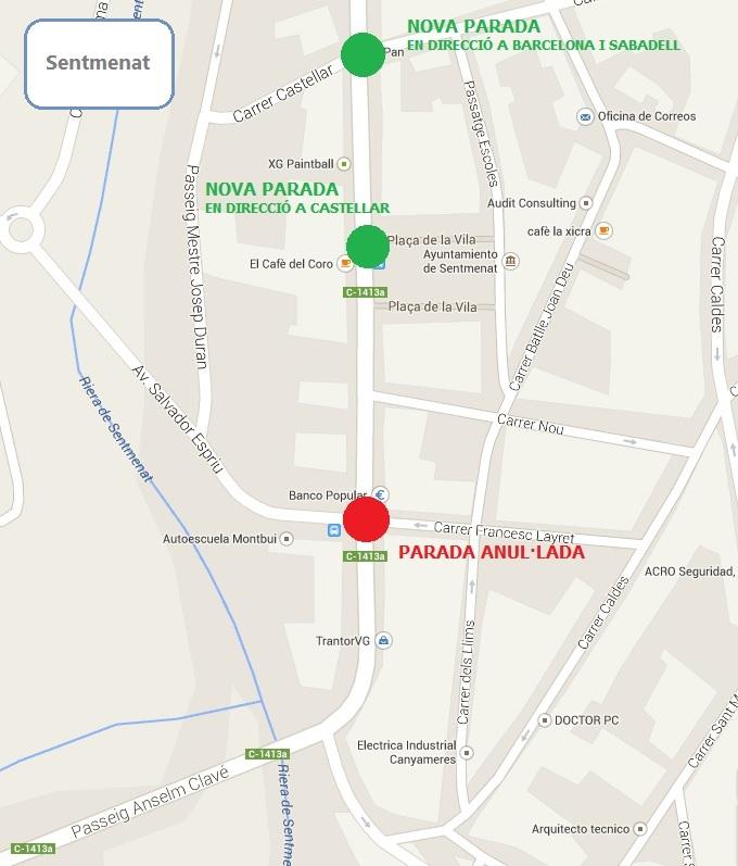 Canvi de parada del Sagalés