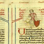 El senyal dels Quatre Pals apareix per primera vegada en la història en l'escut que porta Ramon Berenguer IV en un segell que valida un document del 2 de setembre del 1150.