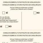 Papereta de la consulta del 9N