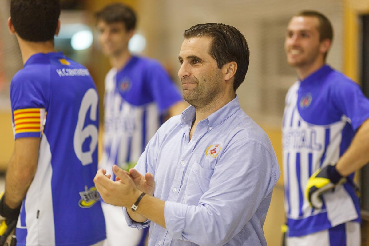 Gaby Cairo, entrenador de l'HC Sentmenat © Jordi Vinyets