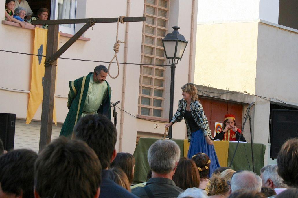 Els sentmenatencs vam jutjar i condemnar a la forca el Marquès, l'any 2009. © Jordi Vinyets