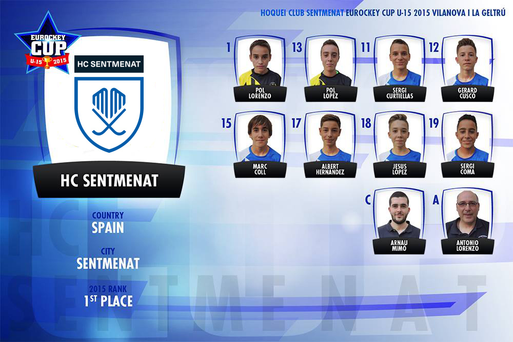 L'equip que disputarà l'Eurockey Cup U15 2015.