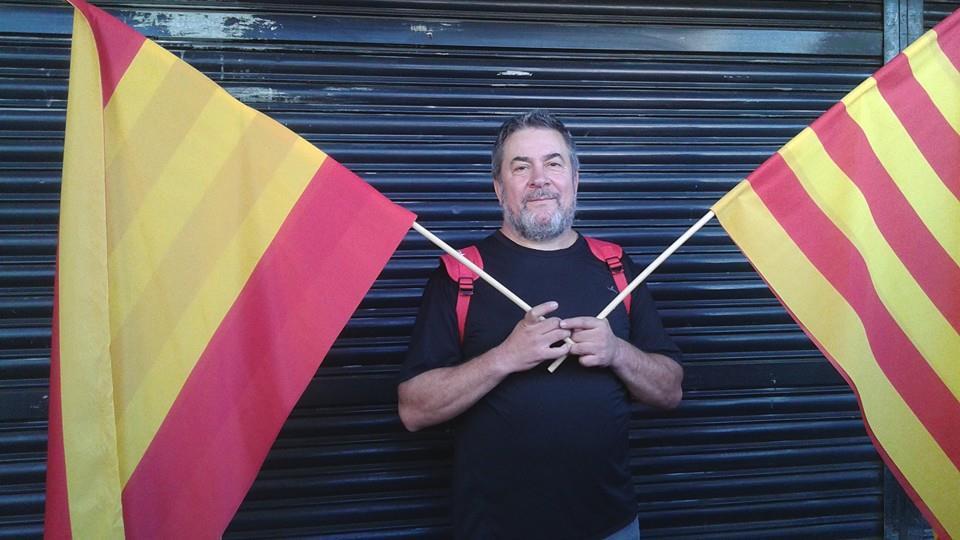 José Peñalver a la manifestació de Societat Civil Catalana del passat 12 d'Octubre del 2014 a Barcelona