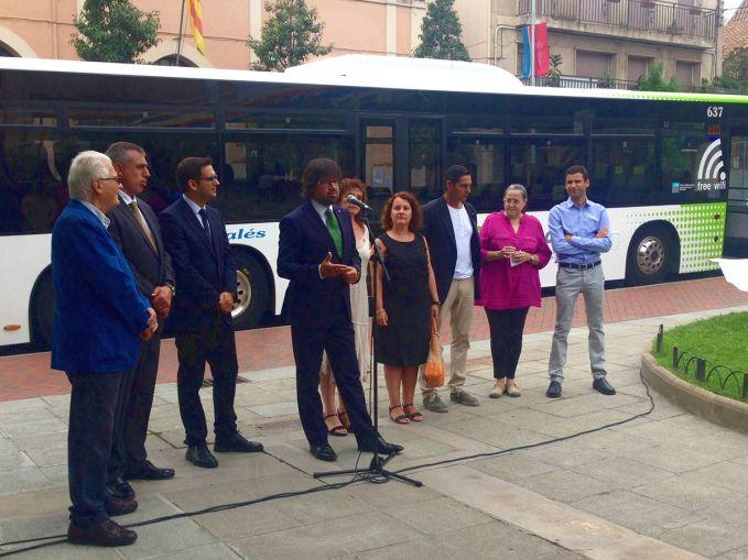 Inauguració de la nova línia Sentmenat-Barcelona