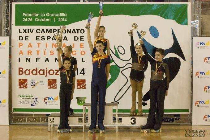 Arnau Domingo i Anna Mondrià, van proclamar-se el passat 25 d'octubre, campions d'Espanya de patinatge artístic infantil